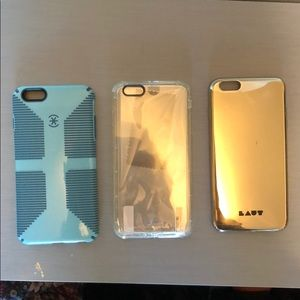 Accessories - Set of 3 iPhone 7/8 Plus cases never used